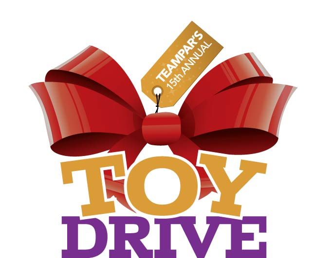 Toy Drive Logo : Teampar annual toy drive